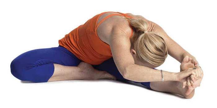 Yoga para miomatosis uterina ejercicio 1 Janu Sirsasana